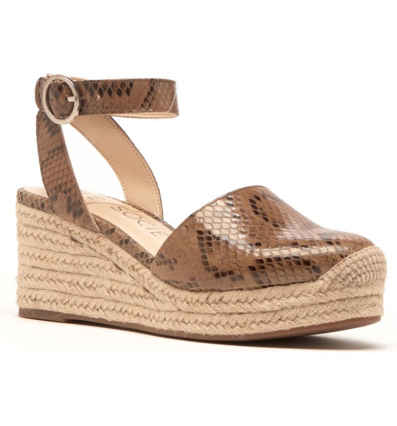 SOLE SOCIETY Channing Espadrille Sandal, Main, color, LIGHT BROWN LEATHER