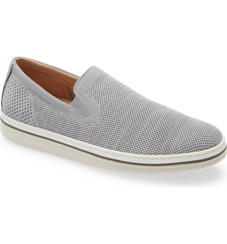 JOHNSTON & MURPHY Trenton Slip-On, Main, color, LIGHT GRAY KNIT