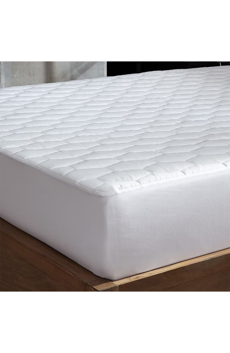 RIO HOME Hotel Laundry(R) Allergy Waterproof Mattress Pad - King, Main, color, WHITE