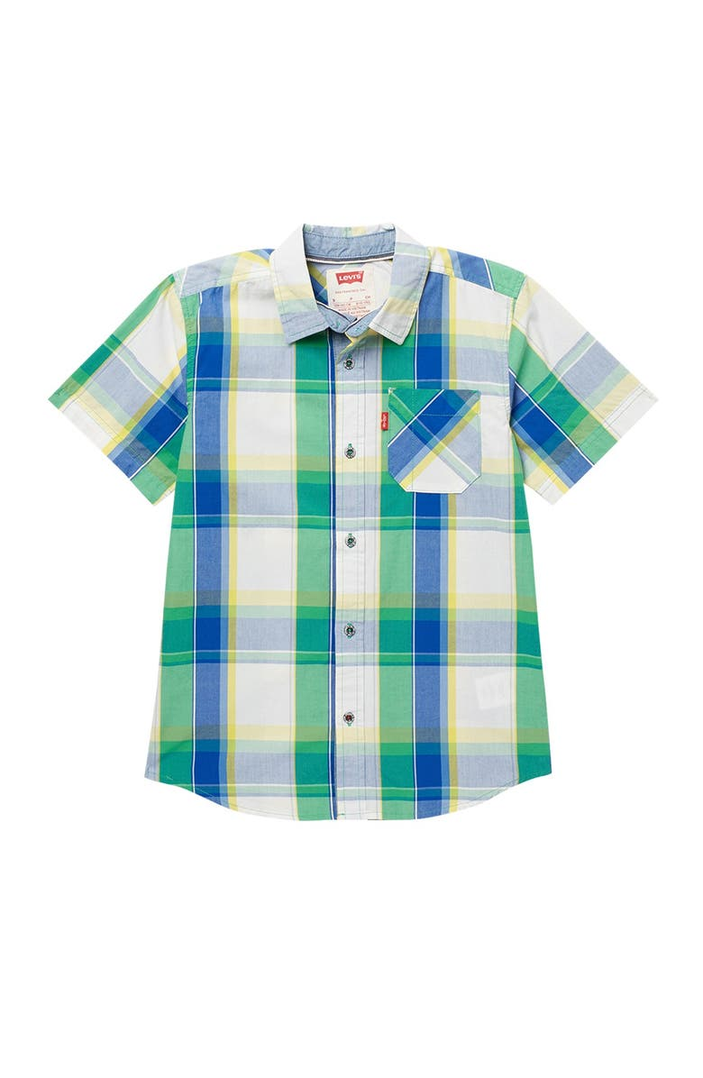 LEVIS The Smith Short Sleeve Shirt, Main, color, F1EGREENBR