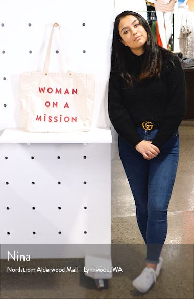 Woman on a Mission Canvas Tote, sales video thumbnail
