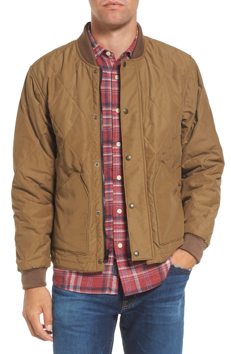FILSON Quilted Pack Water-Resistant Jacket, Main, color, SPORTSMAN TAN
