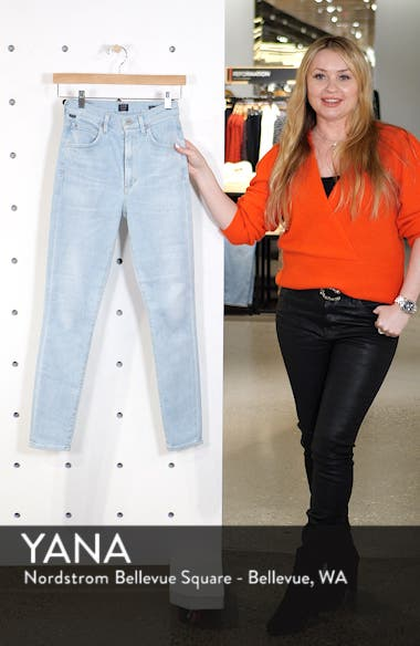 Chrissy High Waist Ankle Skinny Jeans, sales video thumbnail