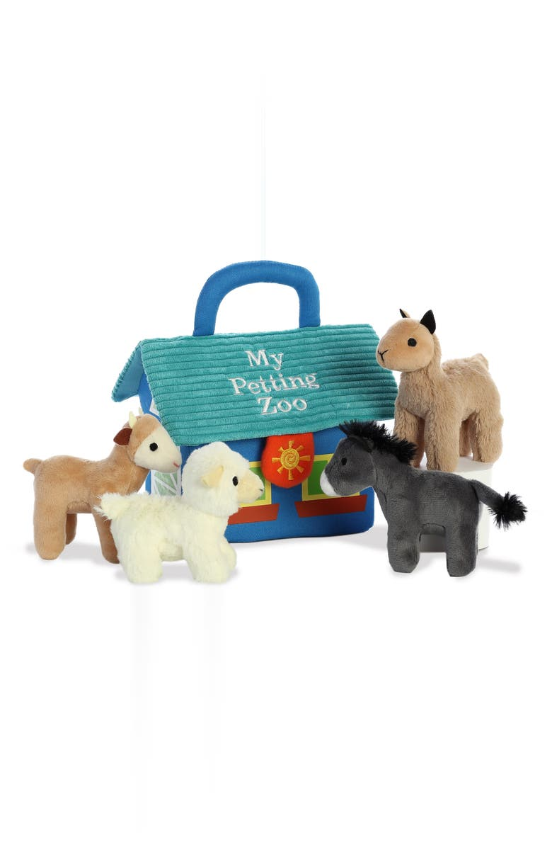AURORA WORLD TOYS My Petting Zoo Stuffed Play Set, Main, color, 960