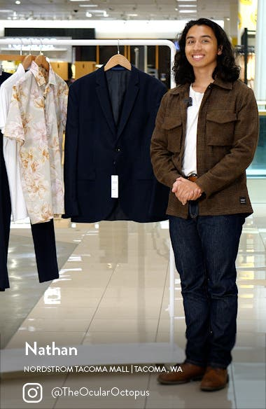 Skinny Fit Textured Suit Jacket, sales video thumbnail