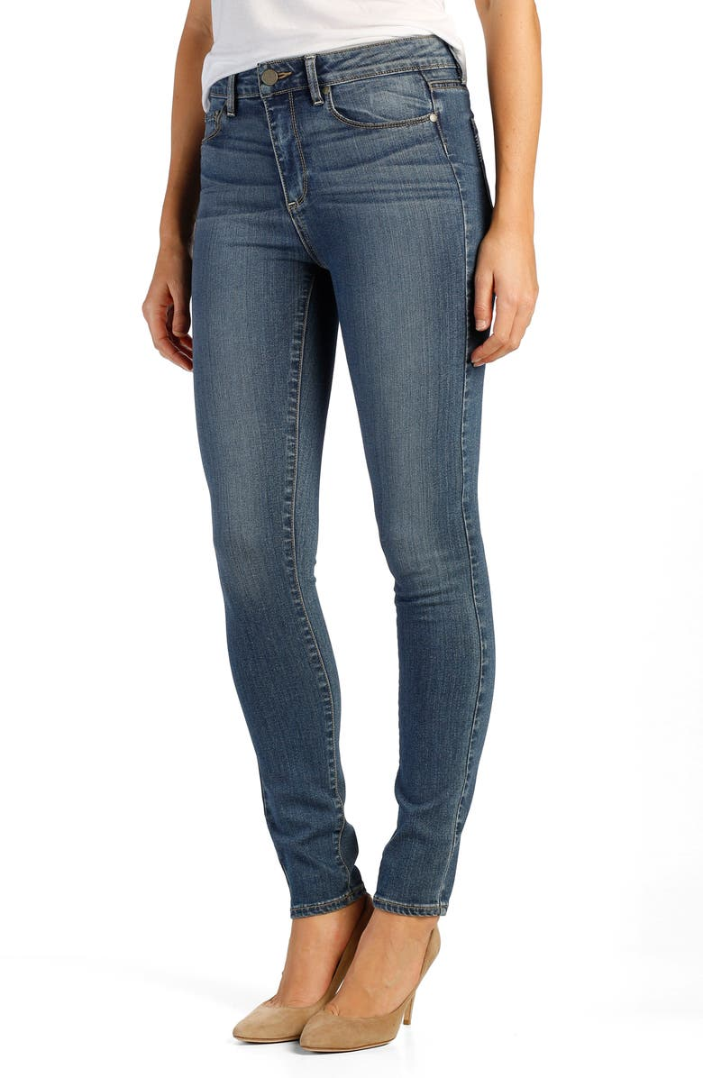 PAIGE Transcend - Hoxton High Rise Ultra Skinny Jeans, Main, color, TRISTAN
