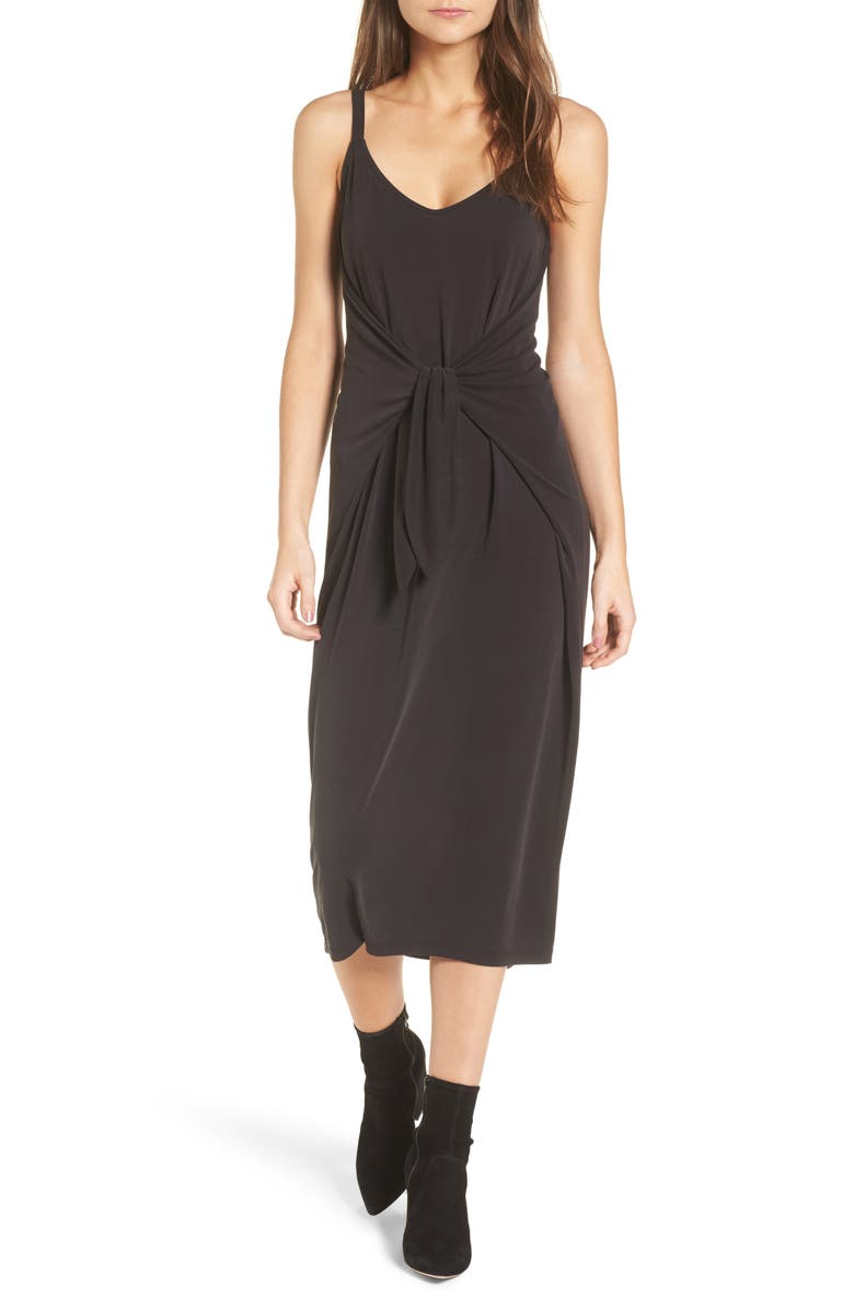 --- Knotted Midi Dress, Main, color, 001