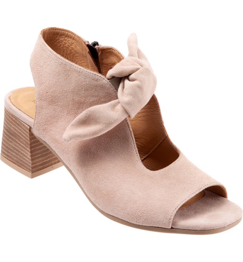 BUENO Ellie Peep Toe Sandal, Main, color, PINK SUEDE