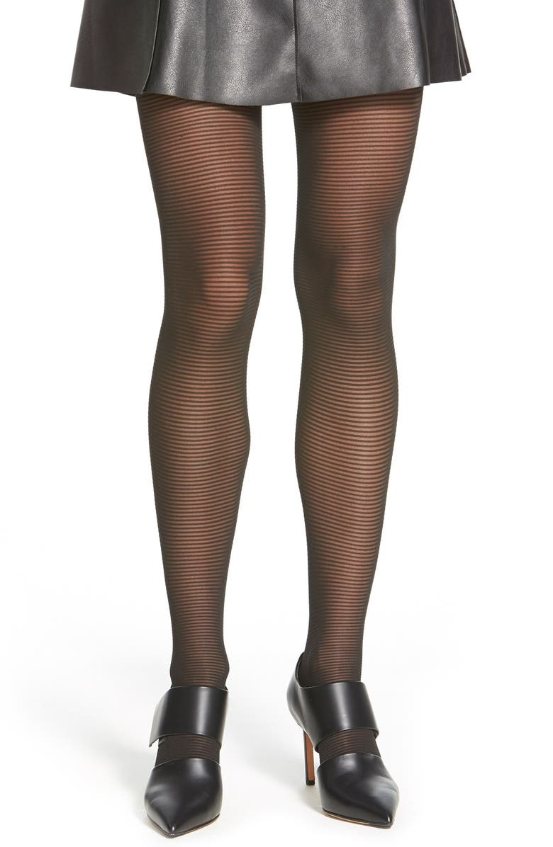 WOLFORD 'Lou' Stripe Tights, Main, color, 001