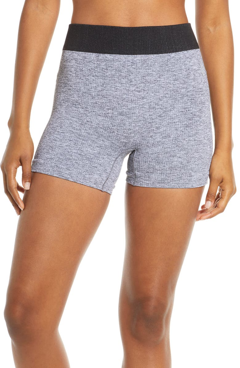FREE PEOPLE FP MOVEMENT Seamless Shorts, Main, color, HEATHER GREY