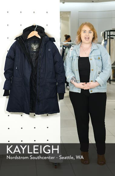 Meredith Hooded Down Parka with Genuine Coyote Fur Trim, sales video thumbnail