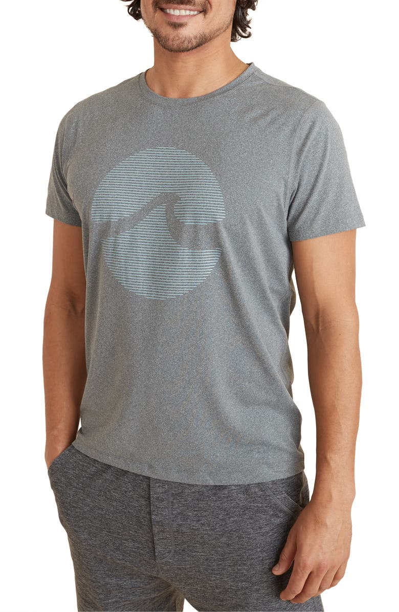 MARINE LAYER Sport Performance Graphic Tee, Main, color, ANTHRACITE HEATHER