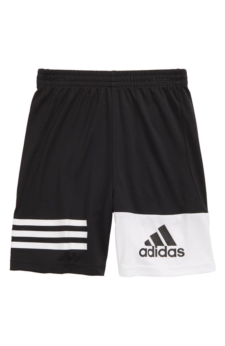 ADIDAS Kids' True Geo Athletic Shorts, Main, color, BLACK