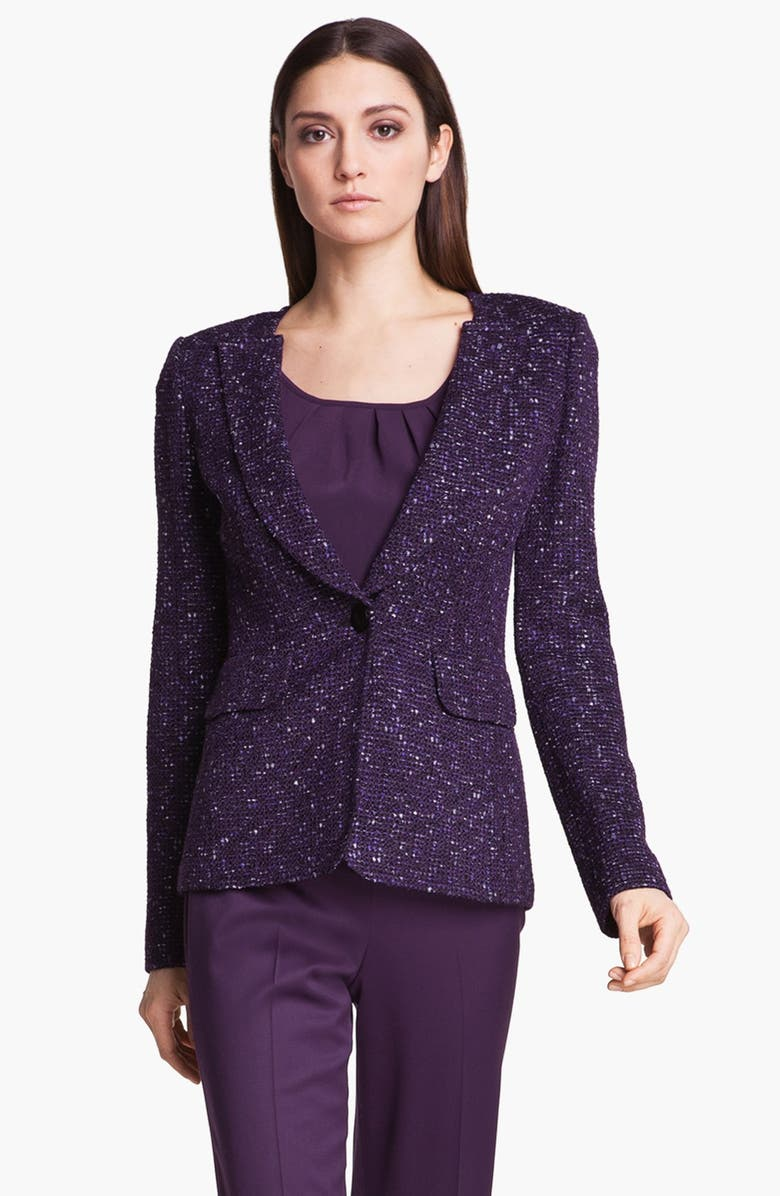 ST. JOHN COLLECTION 'Downing' Tweed Jacket, Main, color, VIOLET MULTI