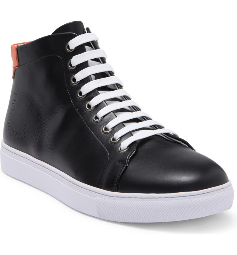FRENCH CONNECTION Julien High Top Sneaker, Main, color, BLACK