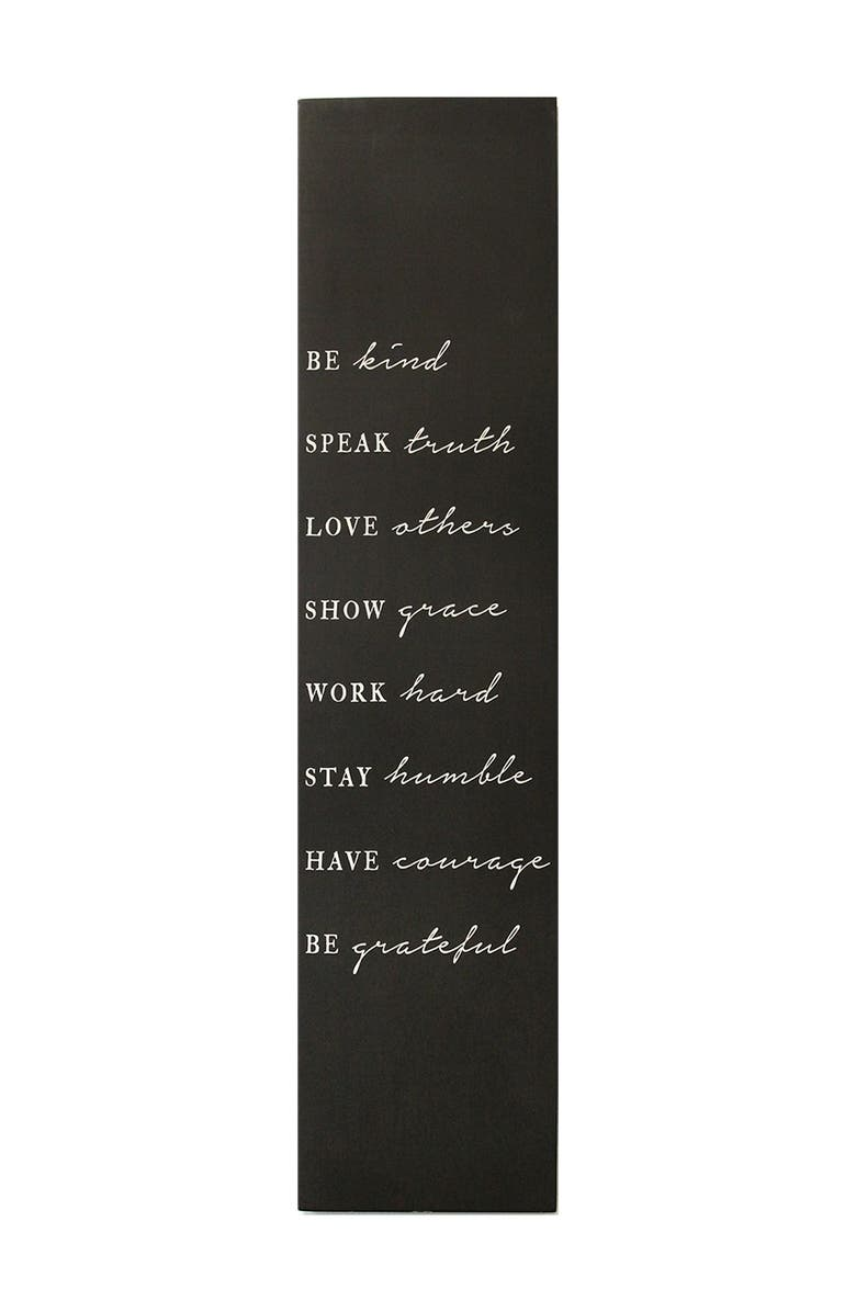 STRATTON HOME DECOR Be Kind Oversized Wall Art, Main, color, BLACK