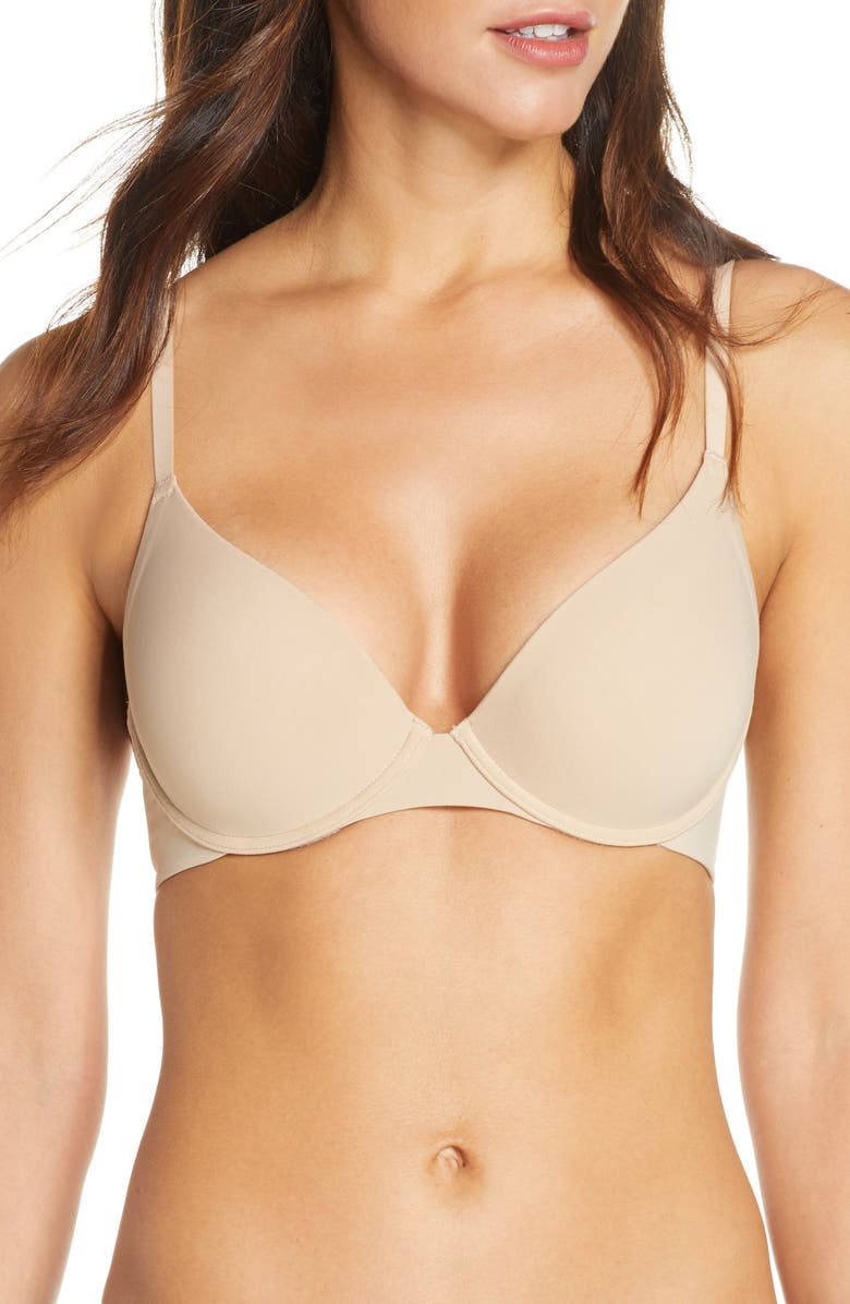 NATORI Minimal Push Up Convertible Underwire Bra, Main, color, CAFE