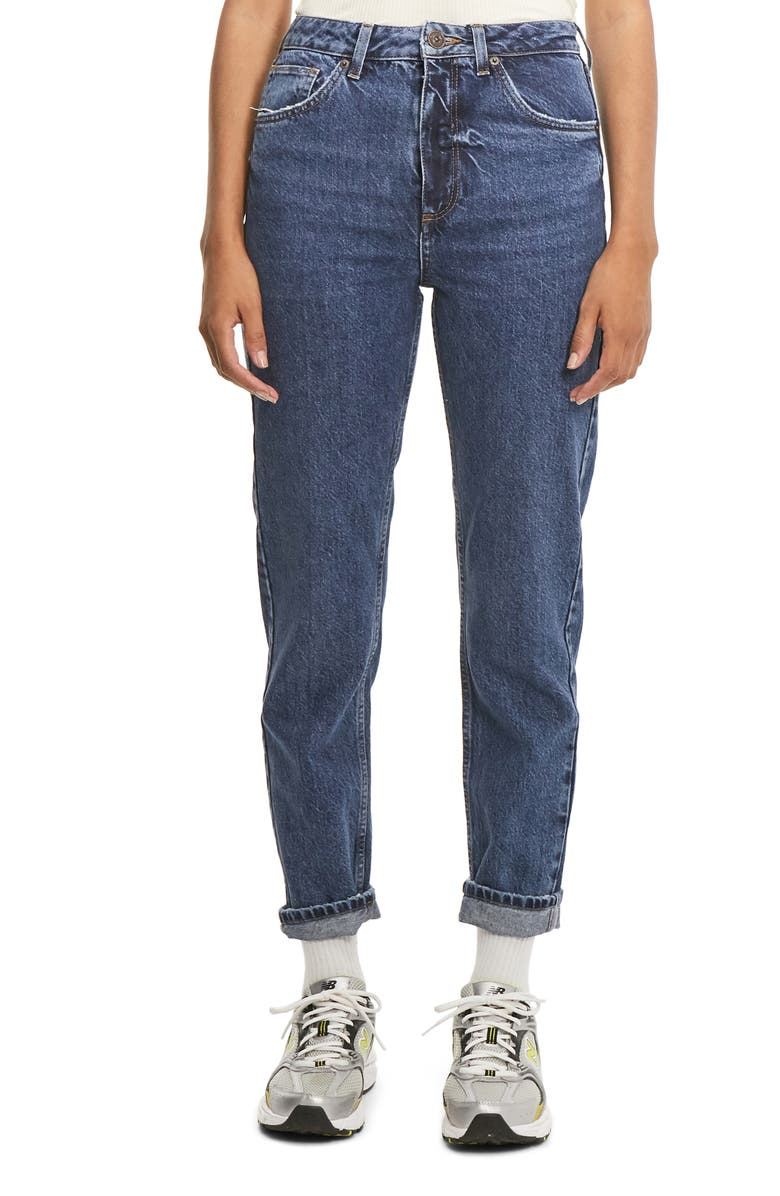 BDG URBAN OUTFITTERS Women's High Waist Mom Jeans, Main, color, DARK VINTAGE