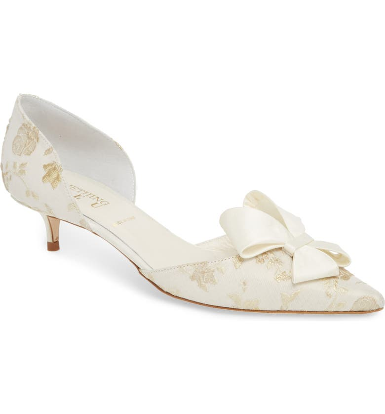 SOMETHING BLEU Cliff Bow d'Orsay Pump, Main, color, ROMANCE IVORY