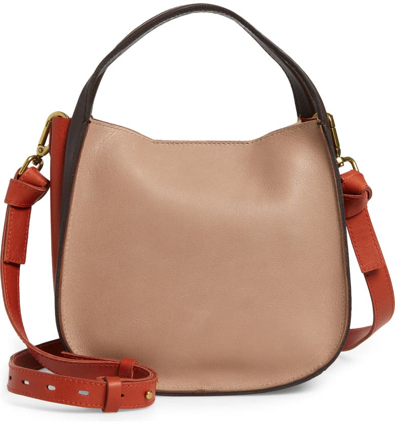 MADEWELL The Sydney Colorblock Leather Crossbody Bag, Main, color, BURNISHED STONE MULTI
