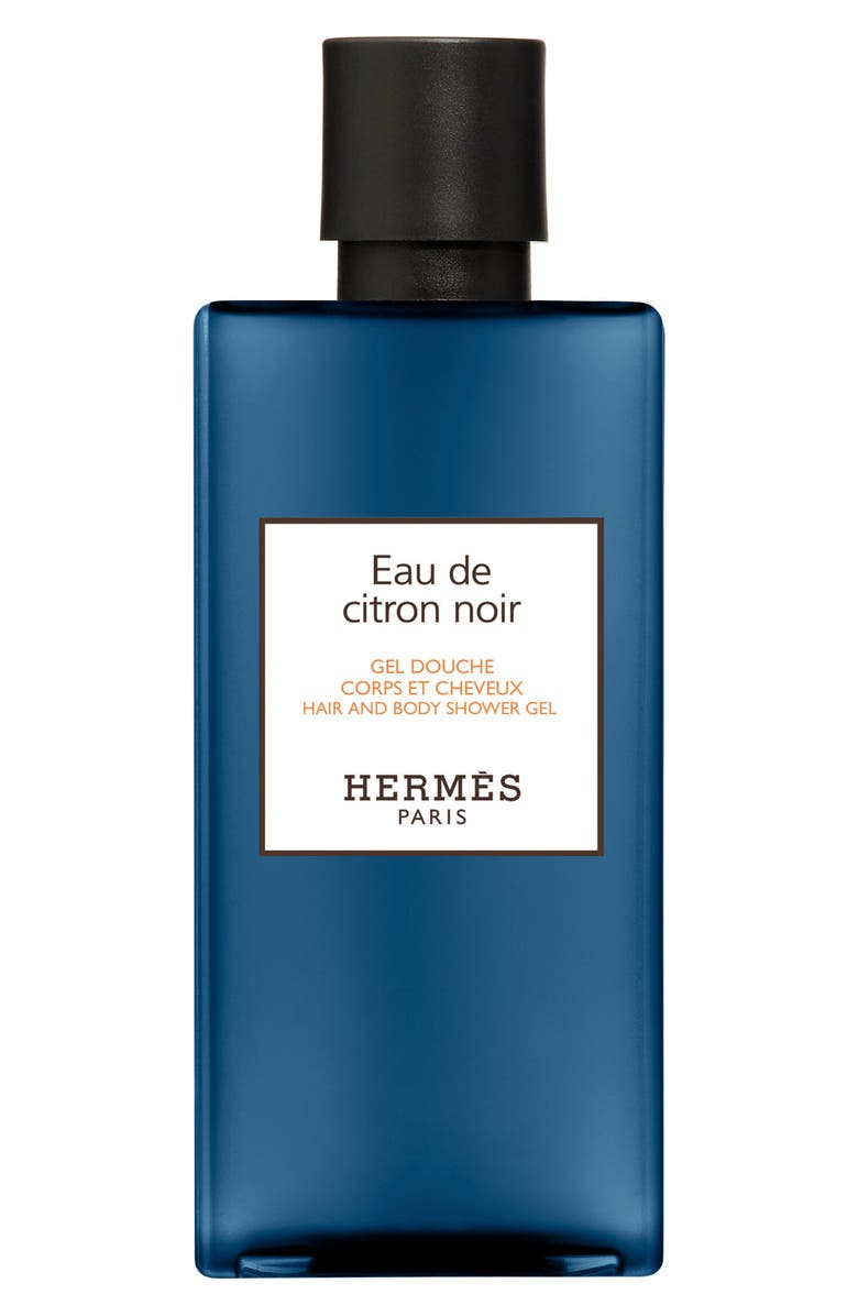 HERMÈS Eau de Citron Noir Hair and Body Shower Gel, Main, color, 000