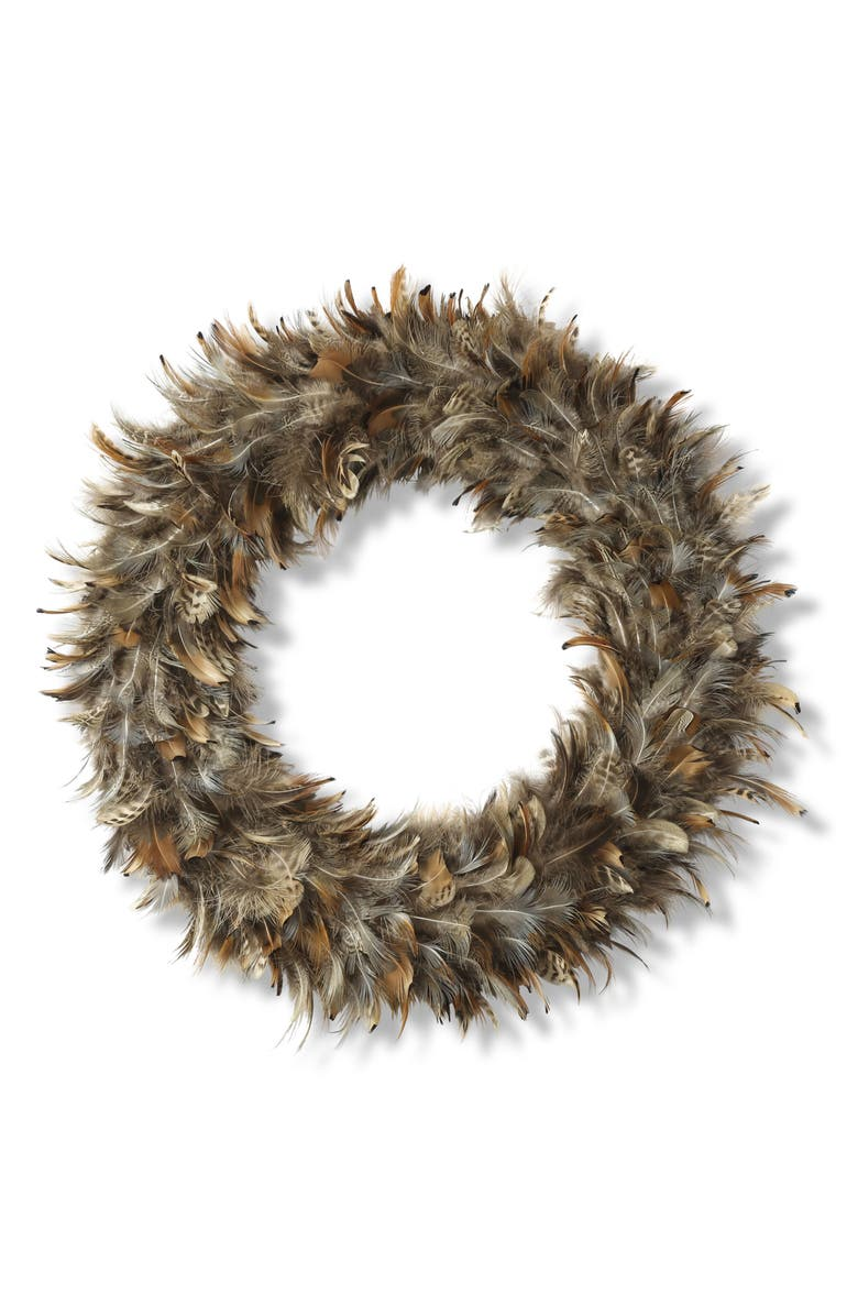 K & K INTERIORS Feather Wreath, Main, color, 220