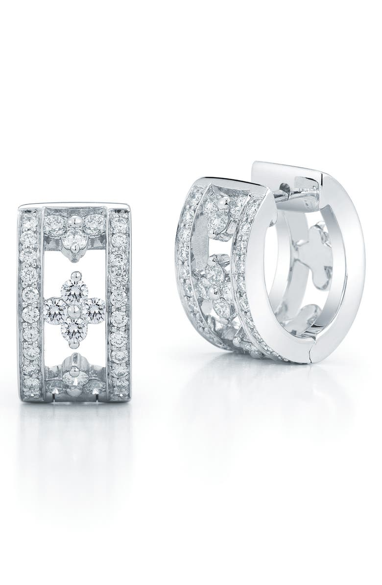 KWIAT Jasmine Diamond Huggie Earrings, Main, color, 711
