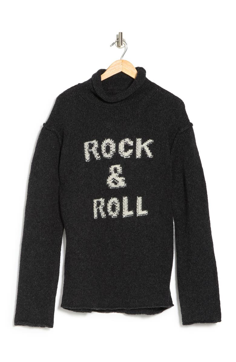 ZADIG AND VOLTAIRE Elly Rock & Roll Long Sleeve Wool & Alpaca Blend Sweater, Main, color, ANTHRACITE