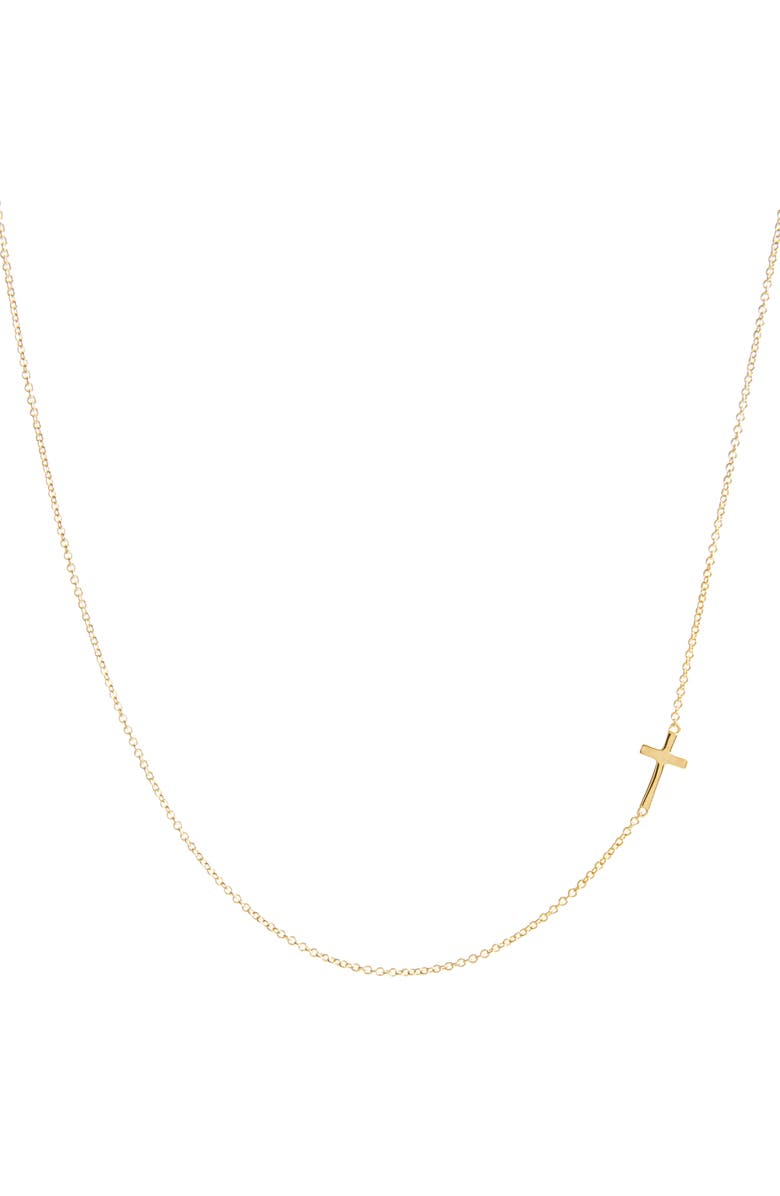 BONY LEVY 14K Gold Cross Station Necklace, Main, color, YELLOW GOLD
