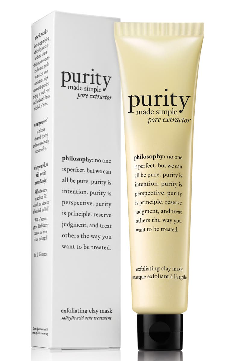 PHILOSOPHY purity made simple pore extractor mask, Main, color, 000