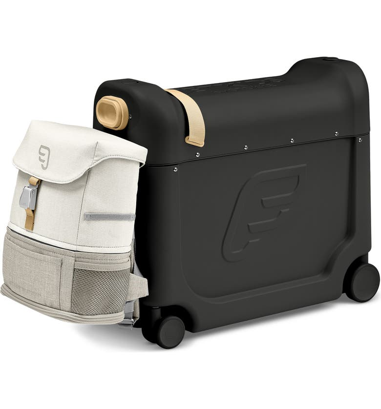 STOKKE Jetkids by Stokke BedBox<sup>®</sup> Ride-On Carry-On Suitcase & Backpack Set, Main, color, BLACK/ WHITE