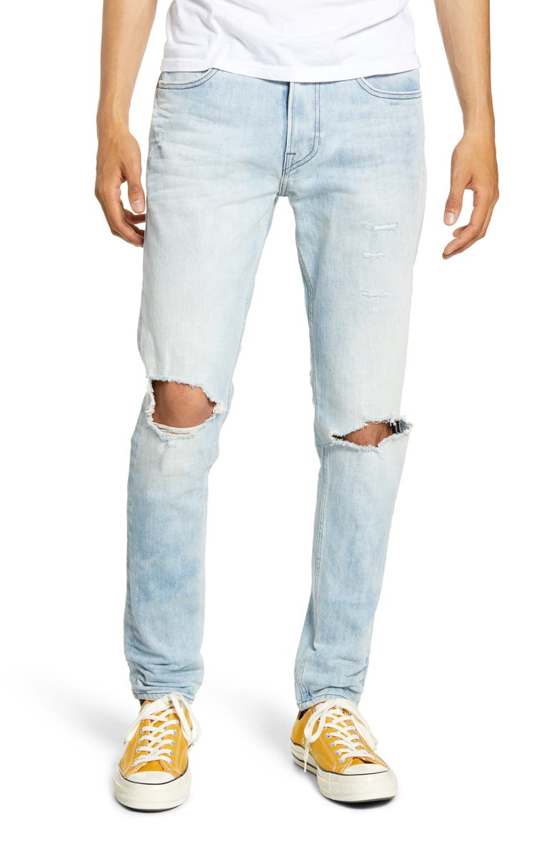 HUDSON JEANS Zack Ripped Skinny Fit Jeans, Main, color, 420