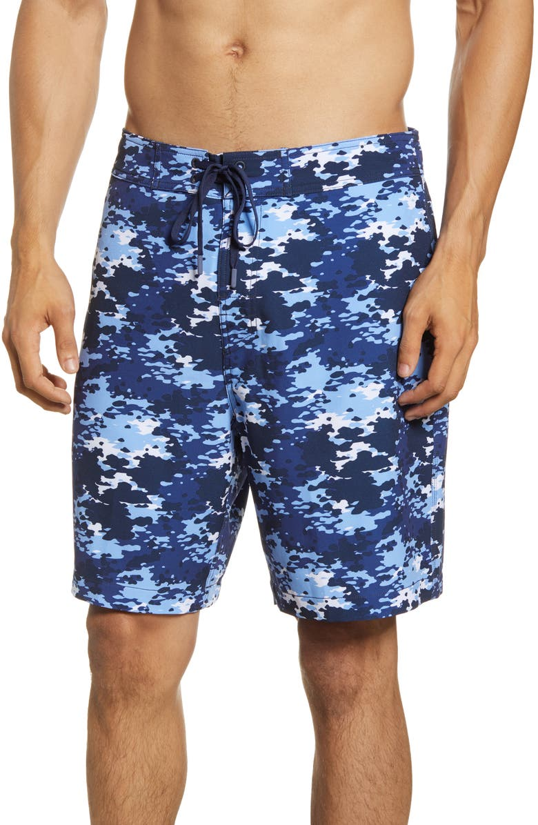 SOUTHERN TIDE Camo Water Board Shorts, Main, color, 408
