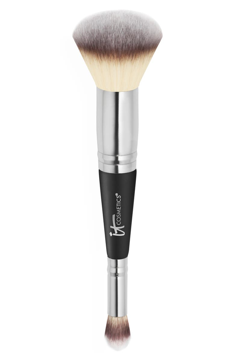IT COSMETICS Heavenly Luxe Dual Airbrush Concealer and Foundation Brush, Main, color, NO COLOR