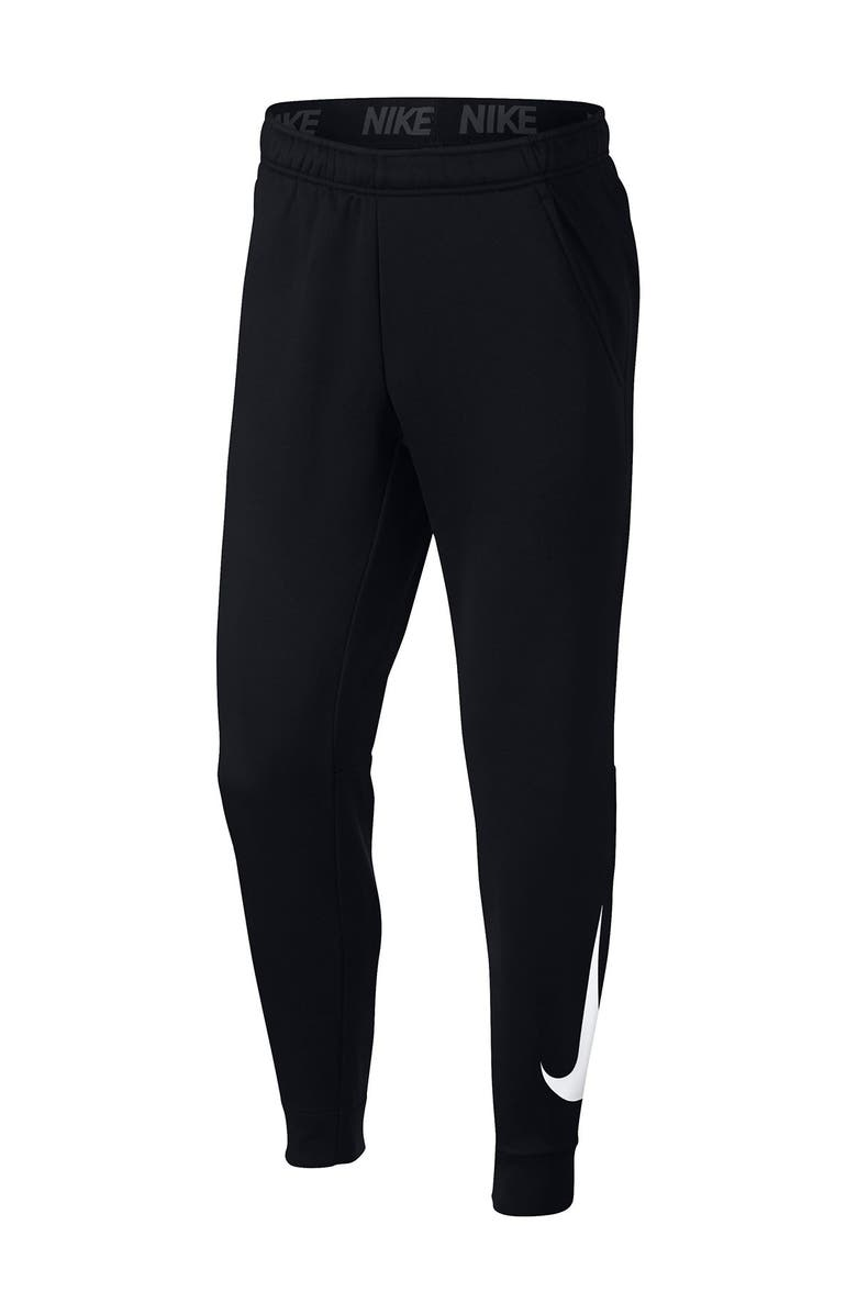 NIKE Therma Tapered Jogger Pants, Main, color, BLACK/WHITE