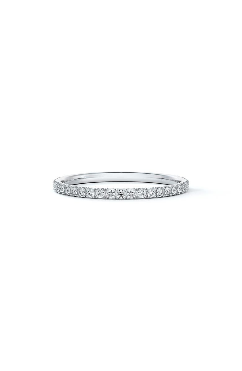 FOREVERMARK Engagement & Commitment French Pavé Diamond Band, Main, color, PLATINUM