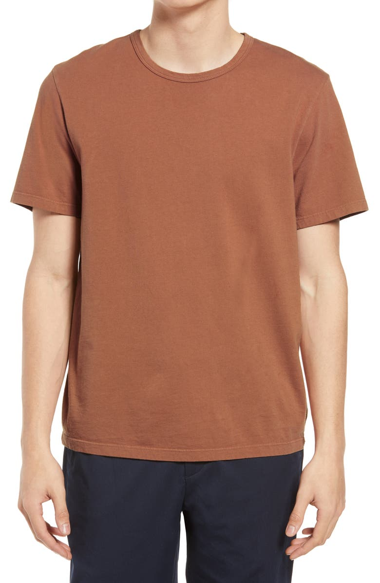 VINCE Solid T-Shirt, Main, color, WASHED NEWBERRY
