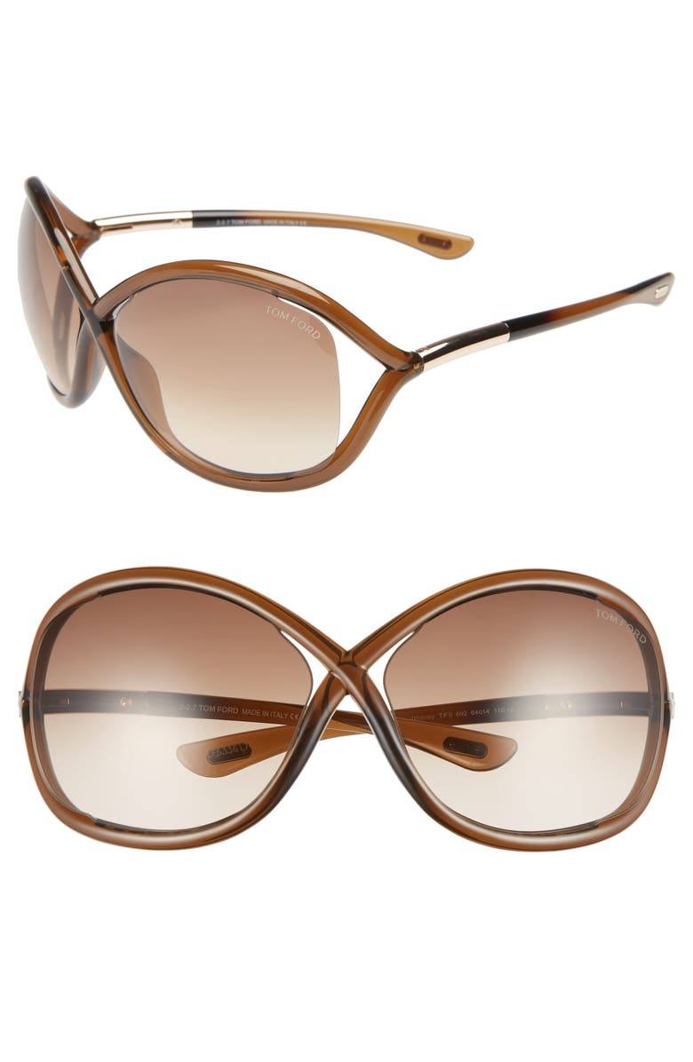 TOM FORD 'Whitney' 64mm Open Side Sunglasses, Main, color, 204