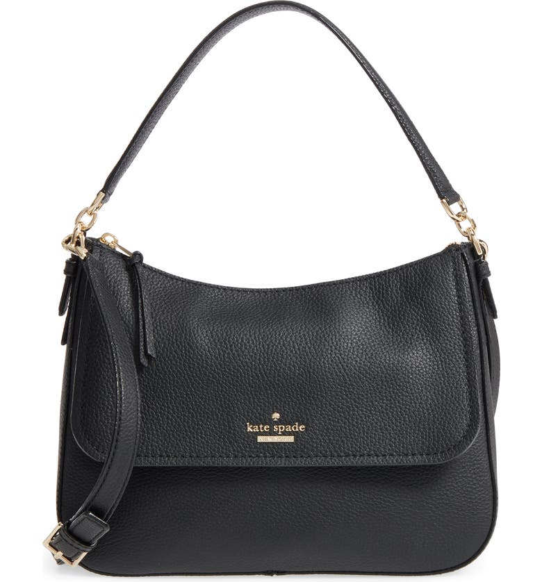 KATE SPADE NEW YORK jackson street - colette leather satchel, Main, color, 001