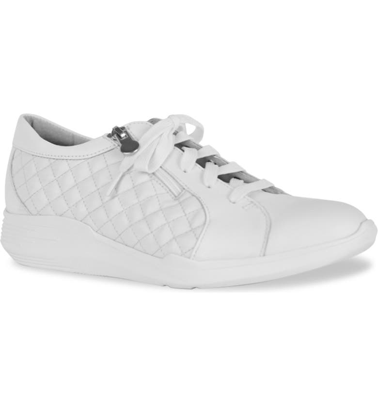 MUNRO Emmie Wedge Sneaker, Main, color, WHITE LEATHER