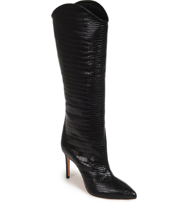 SCHUTZ Maryana Pointed Toe Boot, Main, color, BLACK LEATHER