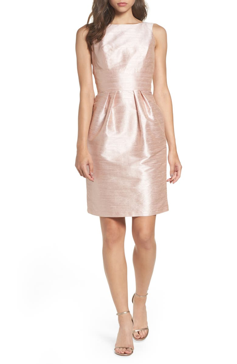 ALFRED SUNG Dupioni Cocktail Dress, Main, color, 689