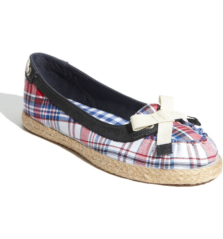 SPERRY Top-Sider<sup>®</sup> 'Martinique' Flat, Main, color, RED/ WHITE/ BLUE MADRAS
