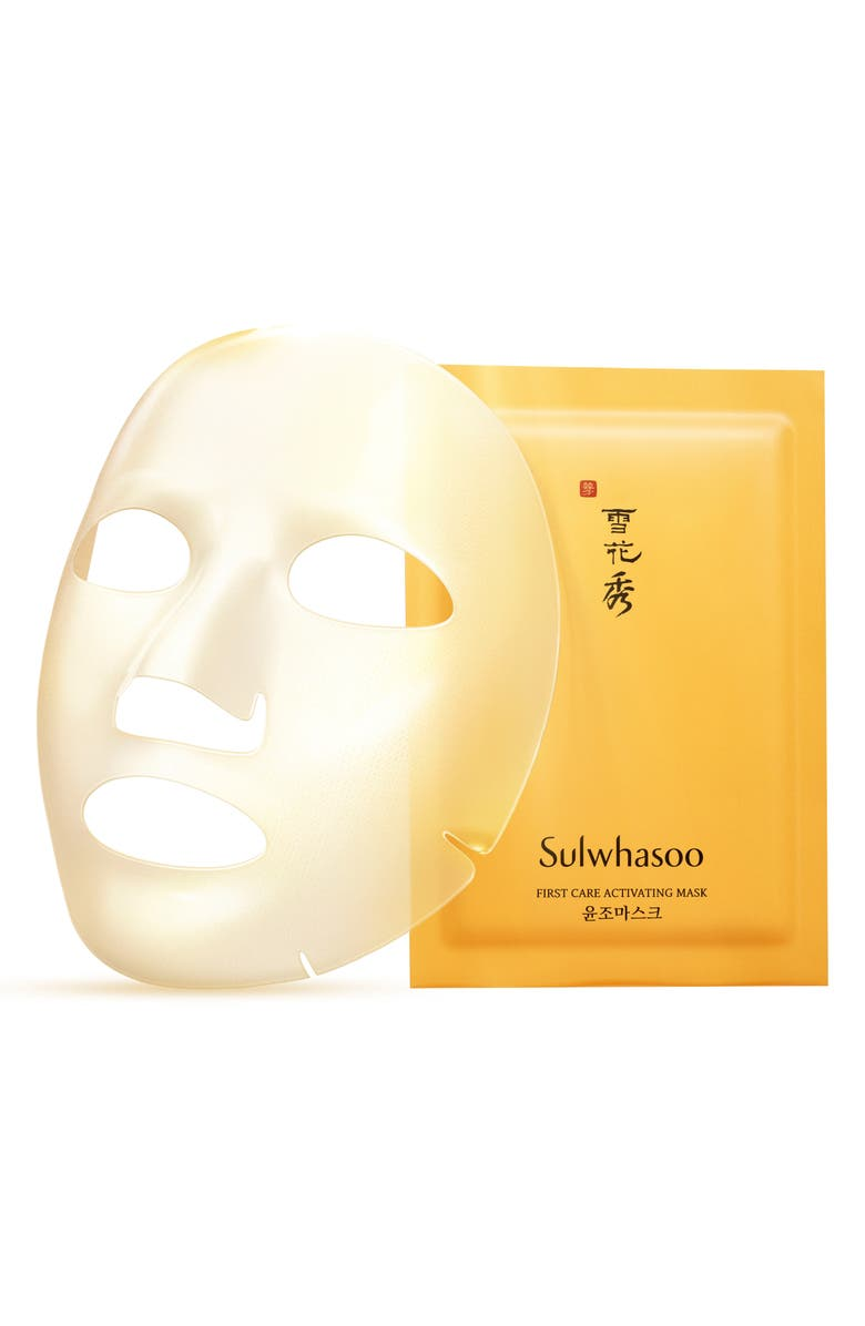 SULWHASOO First Care Activating Sheet Mask, Main, color, NO COLOR