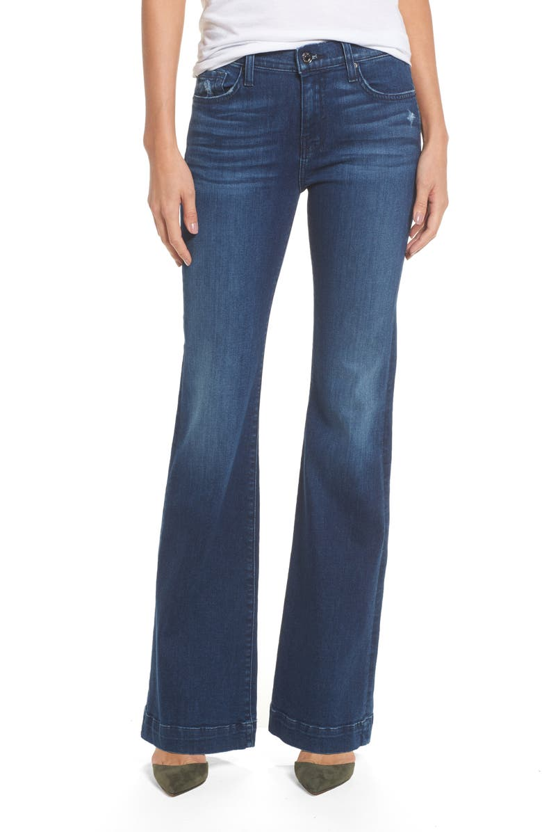 7 FOR ALL MANKIND<SUP>®</SUP> Dojo Wide Leg Jeans, Main, color, 401