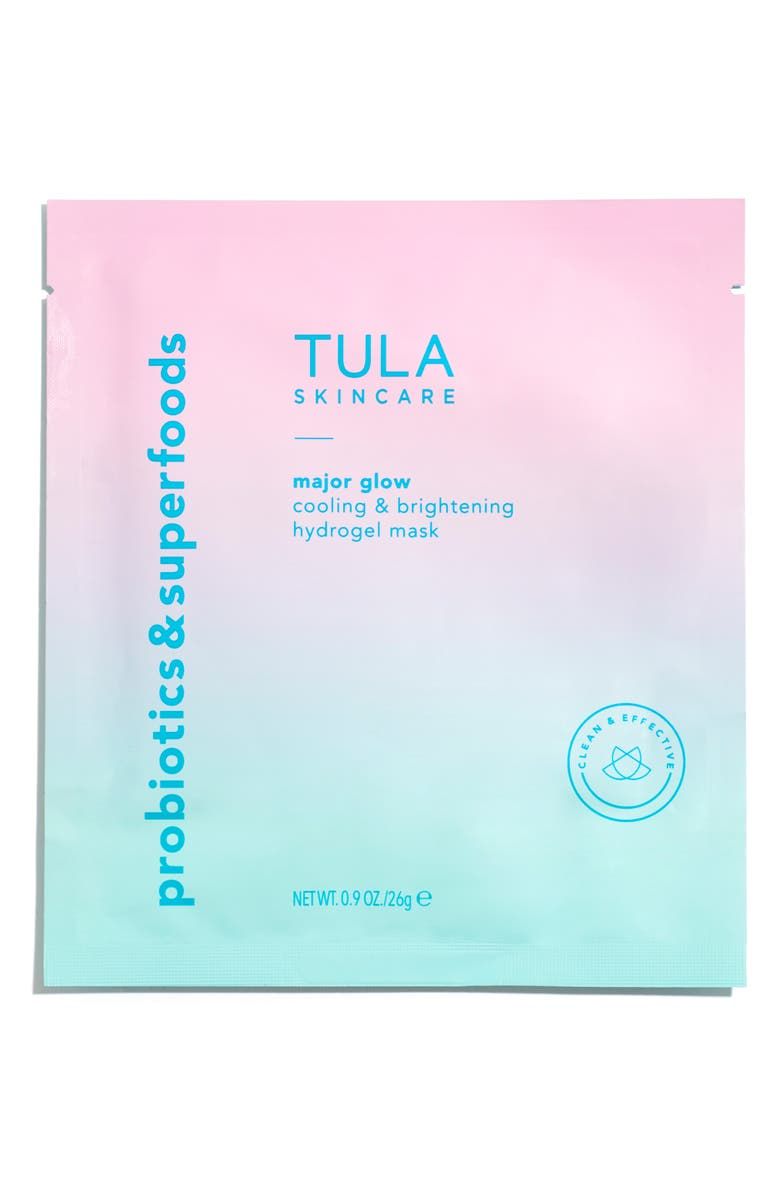 TULA SKINCARE Major Glow Cooling & Brightening Hydrogel Mask, Main, color, 000