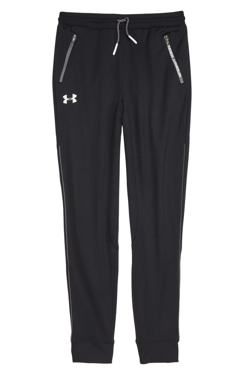 UNDER ARMOUR Pennant Tapered Sweatpants, Main, color, BLACK / / WHITE
