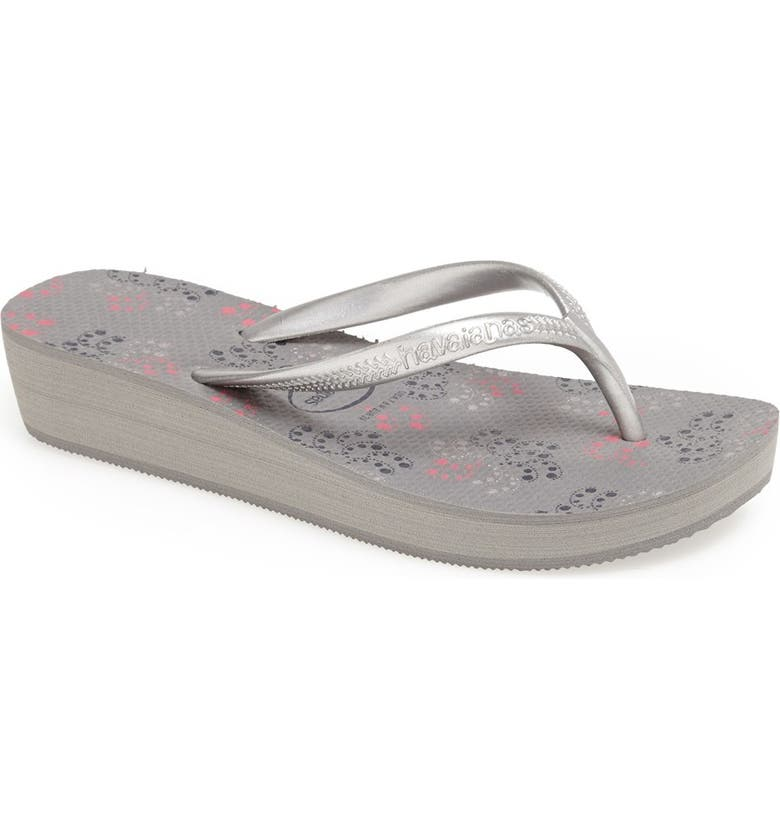 HAVAIANAS 'High Light II' Wedge Flip Flop, Main, color, 020