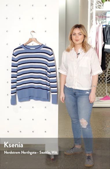 Stripe Cashmere High/Low Sweater, sales video thumbnail