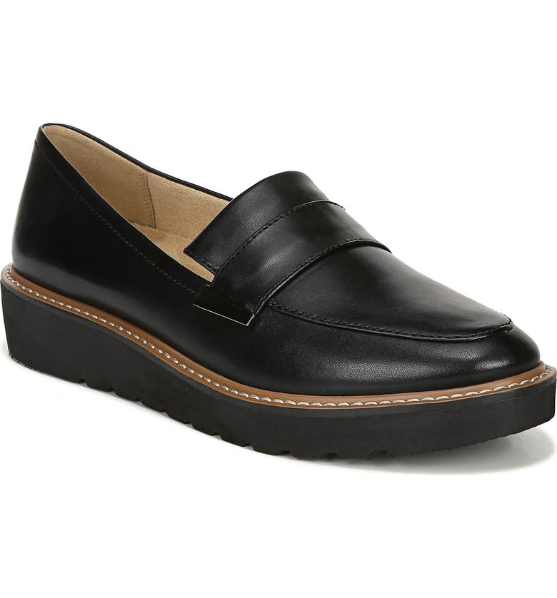 NATURALIZER Adiline Loafer, Main, color, BLACK LEATHER